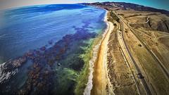 The Goleta Coastline, California (ddaniellevan) Tags: beach ocean sky water waves arial dji dronestagram phantom raod sand
