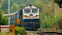 GOC WDP-4D 40101 with 12677 KSR Bengaluru City Ernakulam Intercity Express (sriguru05) Tags: railfanning raildrishti indianrailways locomotive trainspotting railroad train engine diesel track emd goldenrock goc