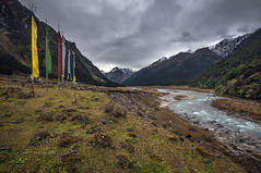 Yumthang (swati.mallik) Tags: indiatravel travelindia sikkim northsikkim yumthang valley prayerflags serene