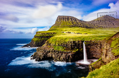 Gasadalur waterfall - Faroe Islands (@PAkDocK / www.pakdock.com) Tags: 2016 adventure cliff clouds faroe faroese feroe grass grassland green island islands islas lake landmark landscape nature ocean outdoor outdoors pakdock panorama panoramic planet scotland sea sunny travel village wanderlust waterfall long exposure gasadalur water coast europe iceland denmark foroyar