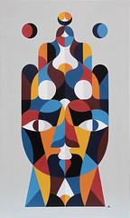 NAHAR KHAMSA. Acrylique sur toile. 148x88cm.2016