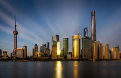 (Rob-Shanghai) Tags: shanghai china river sony app smoothrefection rx10m2 cityscape towers jinmao wfc pearl