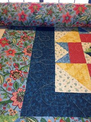 Happy BOM (CASharp) Tags: quilt bright quilting patchwork bom stephens topstotreasures