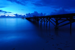 Morning Blue (j4Noo) Tags: longexposure morning blue sea cloud beach sunrise dock nikon day ngc laut tokina awan pantai biru biodiversity slowspeed sorong callingallangels greatphotographers fadhilah yanuar rajaampat d80 papuabarat dermaga 1116mm nikonflickraward flickraward5 ultimatephotographers celebritiesofphotographyforrecreation photographyforrecreationclassic y4nu4r pwpartlycloudy