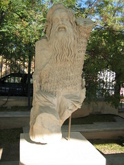 132 - Statue of a god (Scott Shetrone) Tags: other events statues places athens greece acropolis 5th anniversaries theatreofherodesatticus