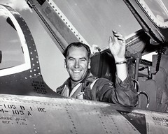 Lin Hendrix in Republic F-105 (San Diego Air & Space Museum Archives) Tags: airplane republic aircraft aviation hendrix thud usaf aviator usairforce militaryaviation prattwhitney unitedstatesairforce f105 thunderchief testpilot republicaviation 54104 54105 republicf105bthunderchief f105b j75 f105bthunderchief f105thunderchief republicf105thunderchief republicthunderchief republicf105 prattwhitneyj75 pwj75 540105 j75p3 thethud republicf105b jf105b 540104 republicjf105bthunderchief republicjf105b jf105bthunderchief linhendrix lindelleugenehendrix lindellehendrix lehendrix lindellhendrix jf105b1re