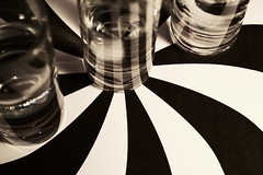(Rebecca_Renee) Tags: red white black water glass photo cool swirl shotglass