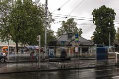 City in Motion (gaheilon) Tags: tram verkehr regen haltestelle ndfilter graufilter nd2400