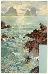 Faraglioni rocks, Capri- postcard (Rescued by Rover) Tags: capri postcard cp postale carte faraglioni hildesheimer