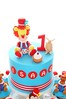 Isaac's Top Cake (Little Cottage Cupcakes) Tags: birthday boy cake circus clown lion 1stbirthday fondant custardpie sugarpaste littlecottagecupcakes