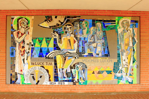 Mosaic Mural on Exterior of Chapel, Valparaiso University - Valparaiso, Indiana