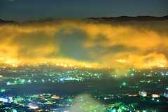 Cover (Vincent_Ting) Tags: city blue light sunset sky clouds sunrise foggy taiwan    seaofclouds