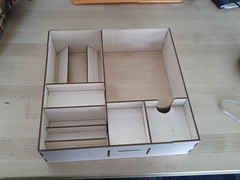 Lasercut wooden box organizer (RobotSkirts) Tags: wood box organizer boardgame kot lasercut iello kingoftokyo
