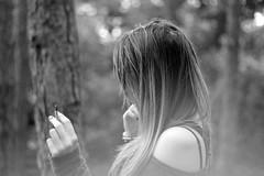 (Chachufi) Tags: white black nature girl canon 50mm noir cigarette smoke faceless blanc fume
