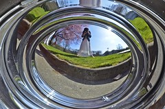 Hubcap Mirror (Pennan_Brae) Tags: vancouver vintage classiccar hubcap buickskylark thephotographyblog