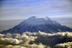 Mount Rainier from plane (Foucault in Exile) Tags: seattle volcano washington mountrainier rainier cascades wa pugetsound