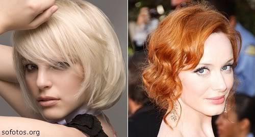 corte de cabelo curto dourado