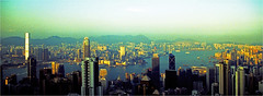 hongkong (thomasw.) Tags: china travel panorama analog 35mm hongkong asia asien cross kb crossed