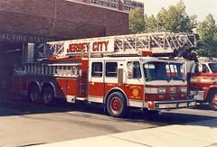 Jersey City Truck 2, 1993. (JL1967) Tags: usa newjersey jerseycity nj aerial 1993 ladder canonae1 firedept truck2 eone