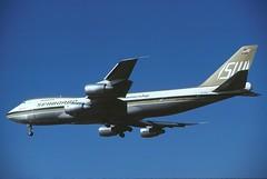 "N703SW Seaboard World ""Containership"" 747-245F landing at KLAX (GeorgeM757) Tags: airplane airport aircraft boeing 747 jumbo widebody klax alltypesoftransport seaboardworld 747245fscd n703sw"