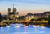 Notre Dame (Paris) (renan4) Tags: bridge sunset paris france seine nikon notredame bluehour renan magichour d800 quais îledelacité gicquel rgicquel renan4 70200mmf4vr