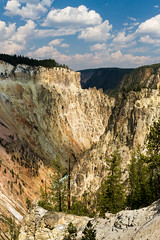 Grand Canyon of the Yellowstone River (Free Roaming Photography) Tags: cliff usa mountains west clouds river nationalpark iron grandcanyon canyon cliffs erosion western yellowstonenationalpark northamerica yellowstone wyoming geology sulfur rhyolite thermal steep yellowstoneriver grandcanyonoftheyellowstone grandcanyonoftheyellowstoneriver canyonvillage