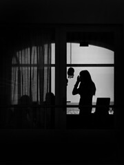 (Raymond Wealthy) Tags: street people blackandwhite bw woman black blancoynegro silhouette person persona blackwhite spain europe mood gente emotion noiretblanc streetphotography silhouettes sombra bn silueta gens noirblanc streetshot blanconegro siluetta blancoenegro