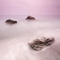 Three rocks (Raphaelum) Tags: beach atardecer playa granada rocas playillas