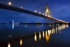 The Bhumibol Bridge in Bangkok