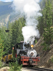 Full Steam Ahead (Patricia Henschen) Tags: railroad railway steam locomotive tender georgetownloop excursion narrowgauge steamlocomotive devilsgate coalcar georgetowncolorado georgetownlooprailroad railroadequipment guanellapassscenicbyway westsidelumberco