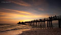 Naples Pier v2 (Rafe Abrook Photography) Tags: ocean sunset sea sky beach silhouette landscape pier florida jetty shoreline shore everglades naples gulfcoast naplespier naplesbeach
