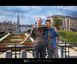 Erlend (Erroba) & Artie At The Mont Des Arts, Brussels, Belgium :: HDR