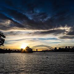 Sun sinking in to the #operahouse... (here_downunder) Tags: uploaded:by=flickstagram instagram:photo=51706677506182697213033554 instagram:venuename=mrsmacquarie27schair instagram:venue=167862 operahouse sunday sydneyharbour harbourbridge sydney australia