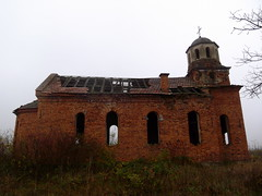 / Fading away (Deian Vladov) Tags: old autumn windows roof chimney church nature grass fog clouds rural automne europa europe village cross branches holes bulgaria dome former balkans nuages toit glise  brouillard faade herbe vieille croix chemine balkan bulgarie fentres dme easternorthodox fissures rooftiles  tuiles          bulgria      fissur gliseorthodoxe    blcs brickmade enbrique      yordanraditchkov yordanradikov kalimanitsa