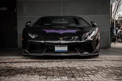 Lamborghini Aventador (Dylan King Photography) Tags: auto red white canada black yellow vancouver grey nikon nissan bc anniversary wheels group gray wing stripe columbia ferrari batman bmw british 50th lamborghini sr bentley ipe matte exhaust pur vancity d90 aventador lp7004 lp7204