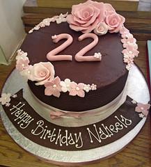 Chocolate Pink Rose Cake