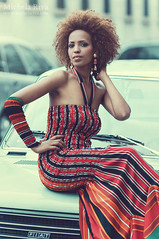 Funny Girl (Michela Riva Photography) Tags: city portrait urban woman black girl beautiful smile fashion magazine model funny mood modeling african afro makeup editorial retouching styling lookbook etno michelariva