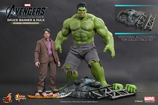 Hot Toys - MMS230 復仇者聯盟:班納博士 & 綠巨人浩克 套裝組合