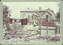 Home of Mr Davidson, Esplanade, Semaphore, showing cyclone damage (rear view) (paelocalhistory) Tags: weather buildings events esplanade residential cyclone semaphore mrdavidson hartstreet
