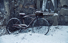 Forgotten (Matt Champlin) Tags: old winter usa holiday ny cold history bike canon peace snowy decay freezing peaceful forgotten upstatenewyork snowing past forlorn 2013