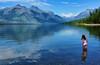 Dreamland (Jeff Clow) Tags: travel vacation lake holiday mountains children landscape getaway dream dreams ripples glaciernationalpark dreamscapes lakemcdonald ©jeffrclow digitalartconversion photoshopcs6 jeffclowphototours