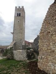 Clock tower and town walls, Sveti Lovreč, Croatia (Paul McClure DC) Tags: church architecture croatia historic istria hrvatska istra svetilovreč sanlorenzodelpasenatico oct2012