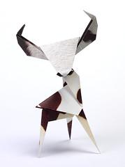 Origami création - Didier Boursin - Vache
