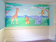 Children's safari animal mural (Timothy Cornelius) Tags: park new york ny south hamburg orchard east aurora towns