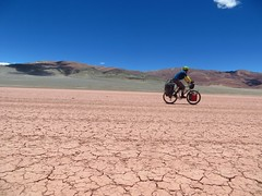 Barreal cycling near Antofagasta