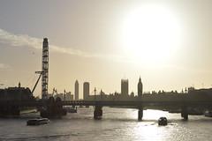 London Skyline (Chiara Ewigkeit*) Tags: life uk bridge england sky sun london eye art water beautiful westminster thames skyline river big nikon day ben united kingdom londoneye bigben millennium londra nikond3200 nikonart