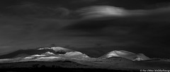 "Night at ""Snøhetta"" (Pewald) Tags: winter light sunset mountain snow nature lines norway landscape blackwhite"