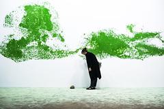 Pierre Huyghes (Bernard Chevalier) Tags: abstract art pierre couleurs femme humour musée profil fresque décor abstrait
