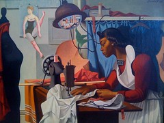 Woman Sewing (smenjas) Tags: painting