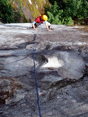 Wildcat, Harrison Bluffs (Dru!) Tags: canada climb kent bc harrison britishcolumbia climbing granite climber dug rockclimbing slab rockclimb 58 coastmountains harrisonhotsprings agassiz rockclimber smearing slabby harrisonbluffs